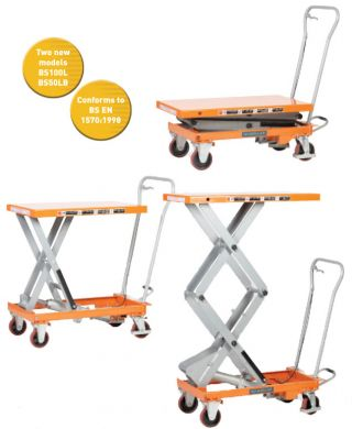 WARRIOR Manual Operated Mobile Lift Tables (BS100L)